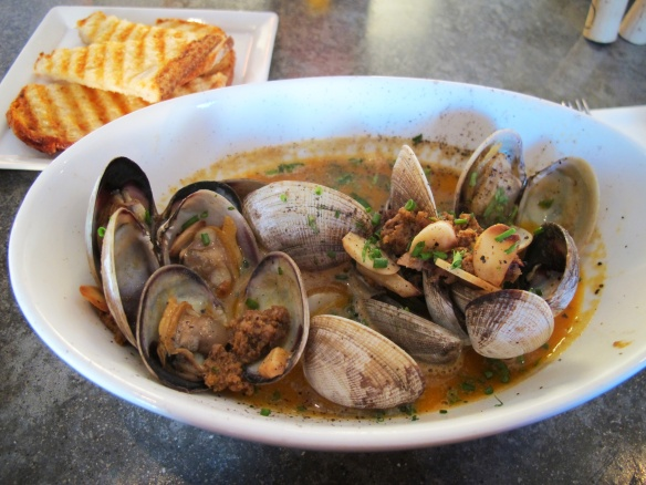 Clams and chorizo @Shuckoysterbar